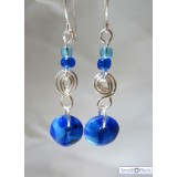 Fused glass Blue Earrings