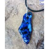 Fused glass Israel Necklace