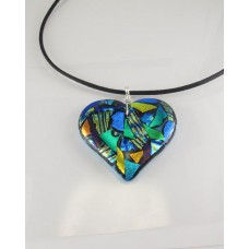 Colorful Big Heart Necklace