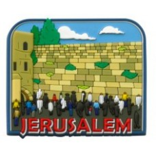 3D COLORFUL MAGNET-Praying at the Western Wall
