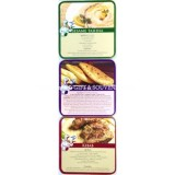 Israeli Cuisine Recipe Coasters - Set of 6