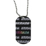 Dog Tag Necklace - Jerusalem