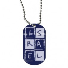 Dog Tag Necklace - Israel Logo